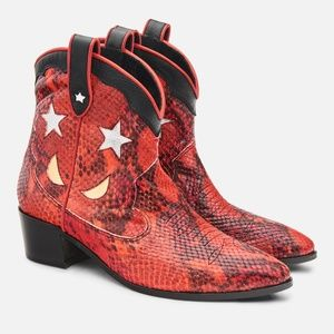 Harvest Western Boots - Red Snake